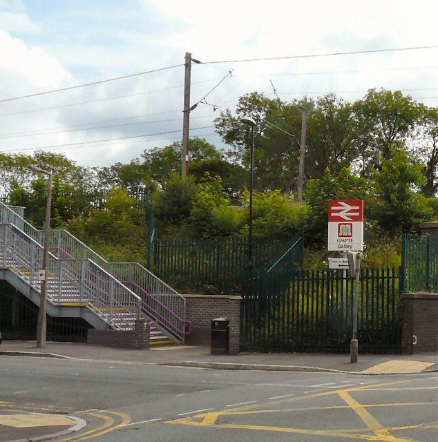 Gatley Station Entrance