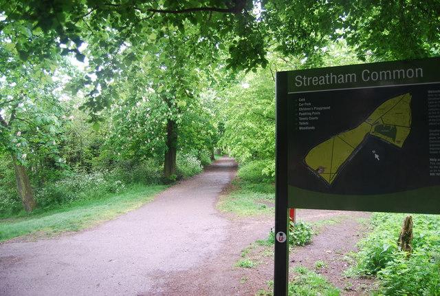 Capital Ring entering Streatham Common