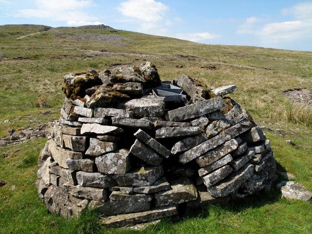 Mine Shaft In Mined Landscape Beside Pennine Way