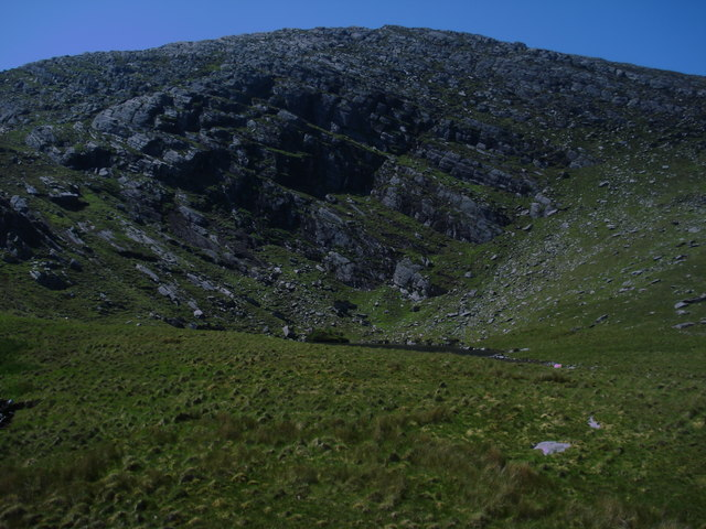 Lough Anunaghan hiding under the bones of Coomacloghane