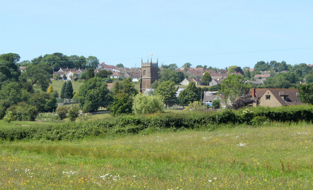 2010 : A flower meadow and Clutton parish church