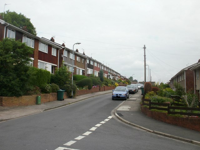 Eastern arm of Farmwood Close, Newport