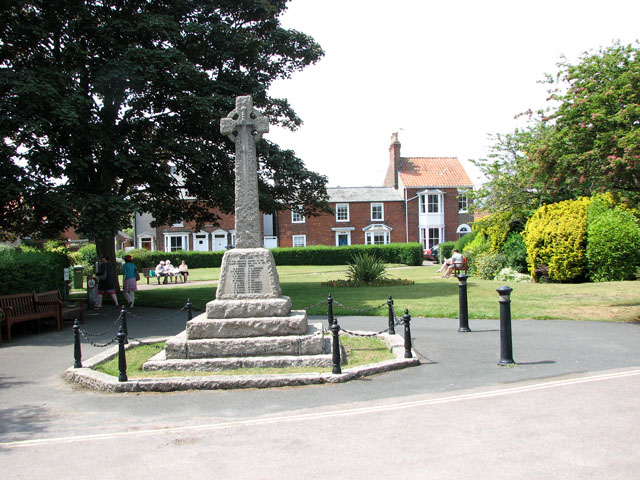 The war memorial on Bartholomew Green, Southwold