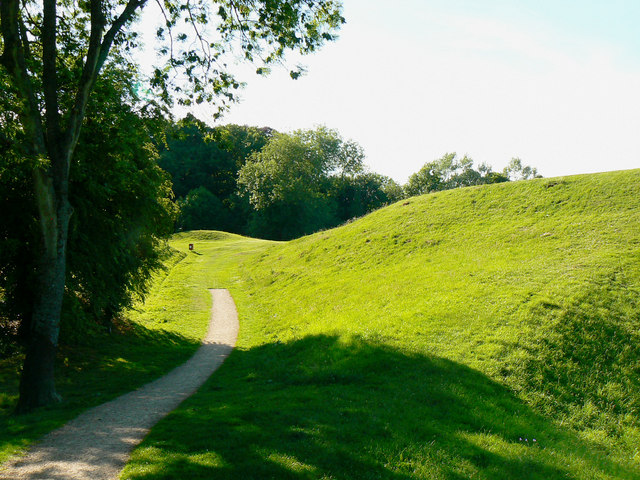 A path at the Roman amphitheatre, Cirencester