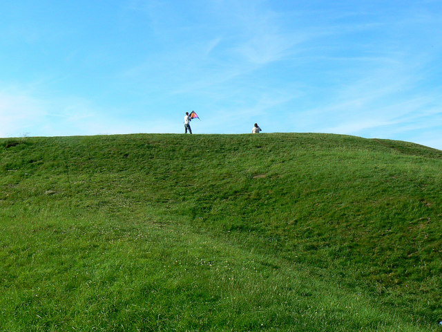 The top of the Roman Amphitheatre, Cirencester
