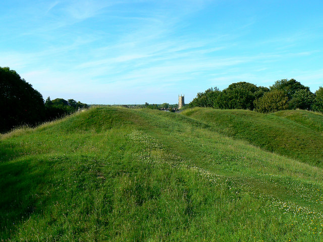 The western edge of the Roman amphitheatre, Cirencester