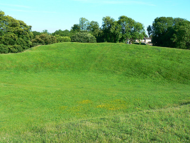 Across the Roman amphitheatre, Cirencester