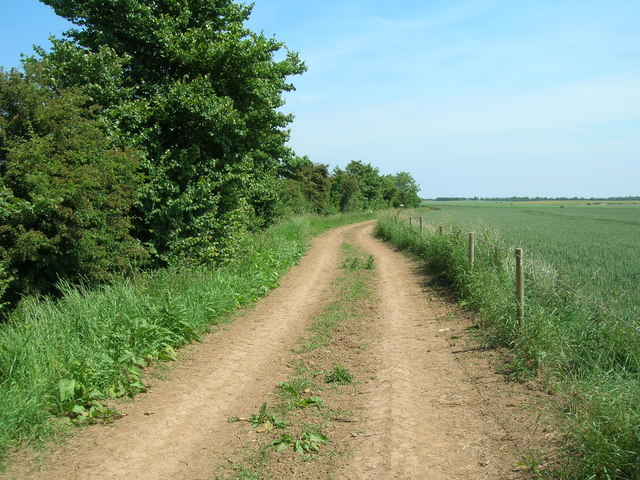 Farm track (footpath) near Willow House Farm