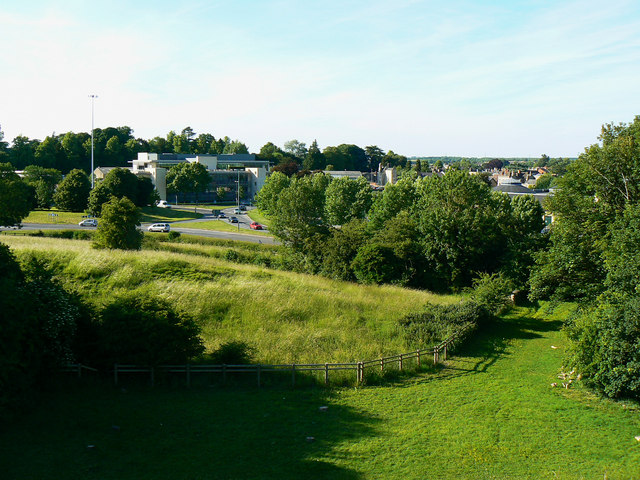 A view north from the Roman amphitheatre, Cirencester