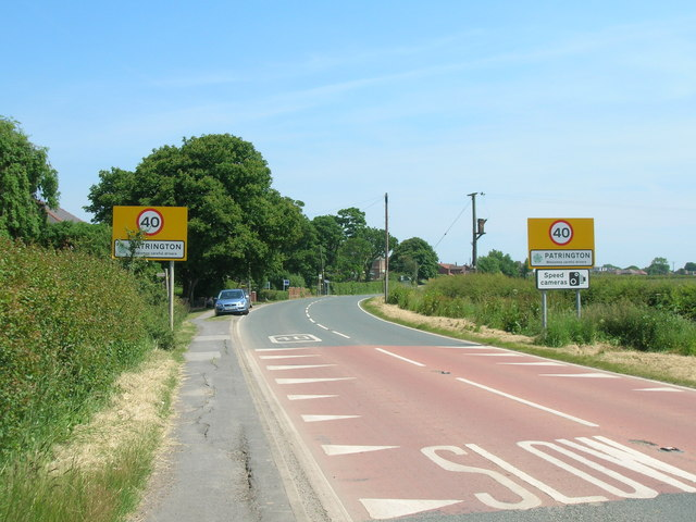 Entering Patrington on the A1033