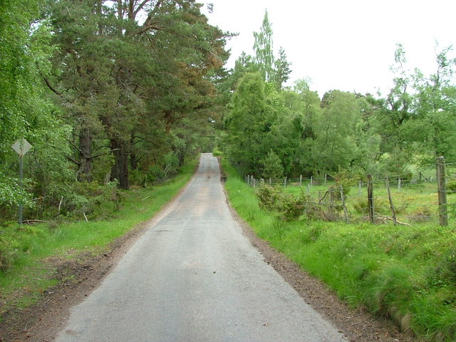 Unclassified road at Tulloch