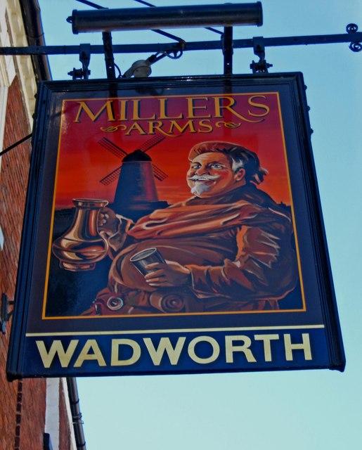 Millers Arms (sign), 8 Bridge Street