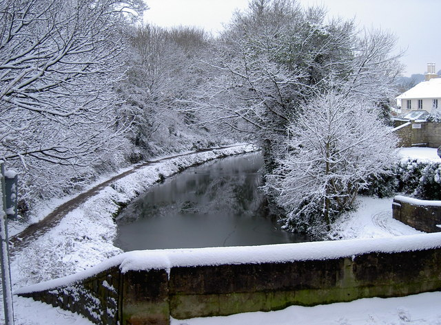 Canal  in snow