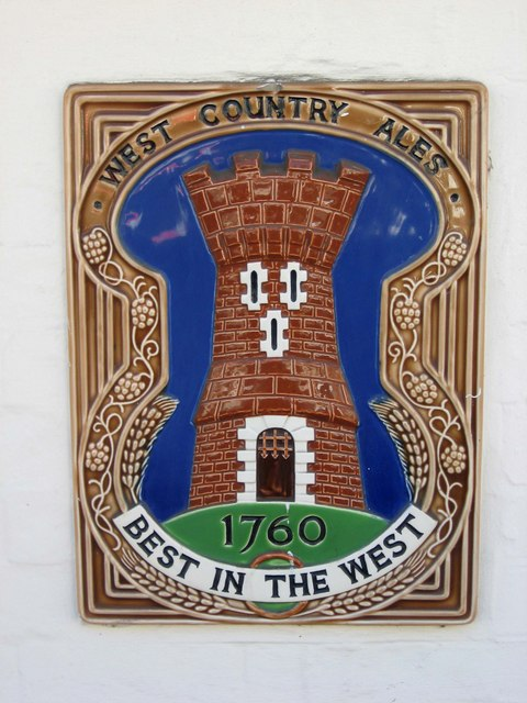 West Country Ales plaque, Millers Arms, 8 Bridge Street