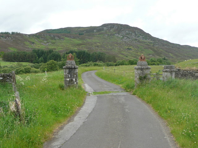 Imposing gateway to Gleann Fearnach