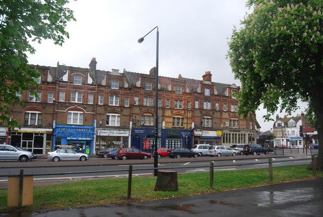 Row of shops, Streatham High Rd (A23)