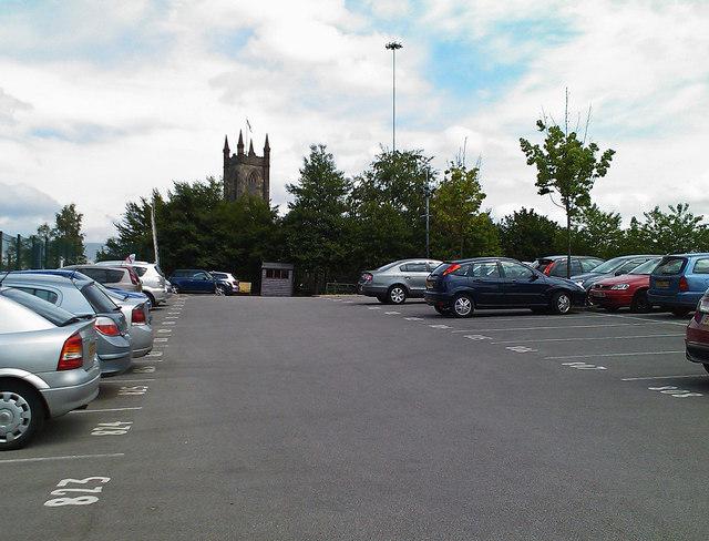 A private car park in Salford