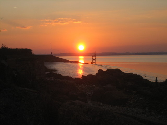 Sunset over the Humber