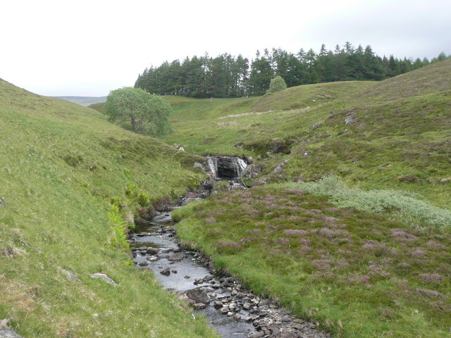 Waterfall on outflow from Loch Crannach