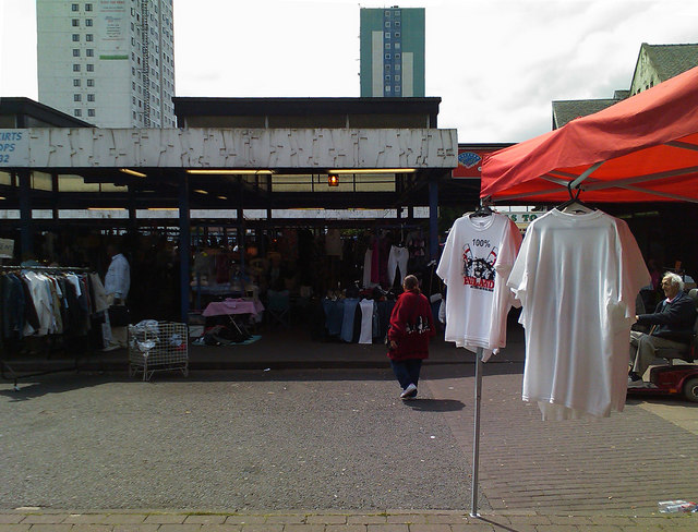 Market day at Shopping City, Salford
