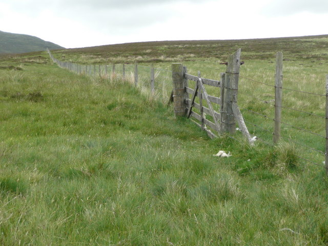 Gate in a long straight fence