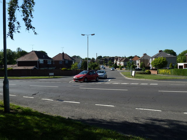 Junction of Ladybridge and Stakes Roads