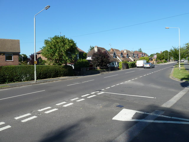 Junction of Park Avenue and Ladybridge Road