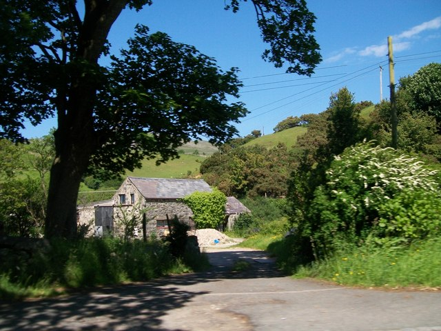 Access road to farm buildings on the north side of Llanaelhaearn