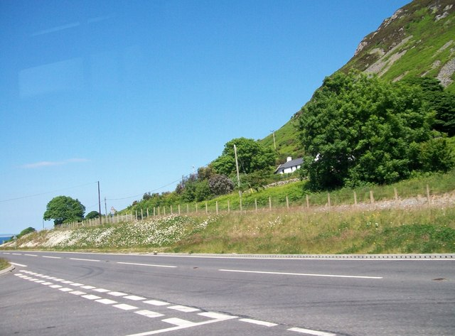 The turn off for Trefor from the A499
