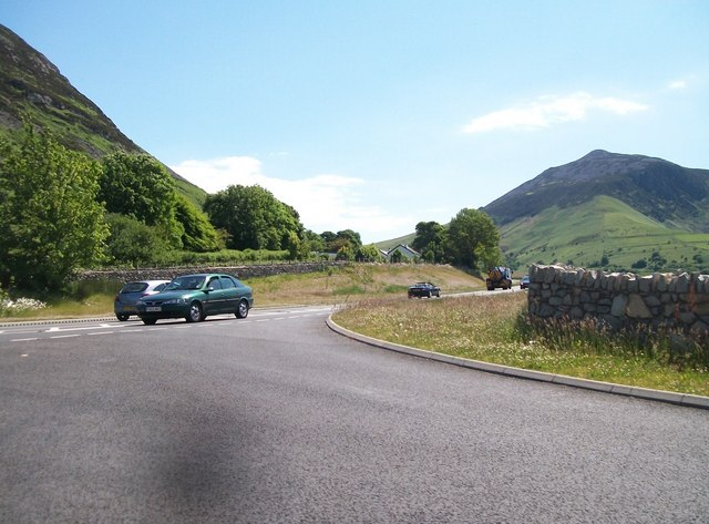 "The A499 from the Trefor ""new road"""