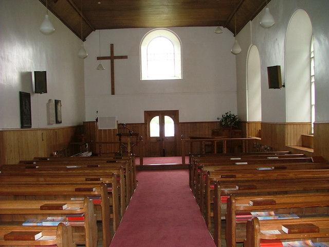 Interior of Alvie Church