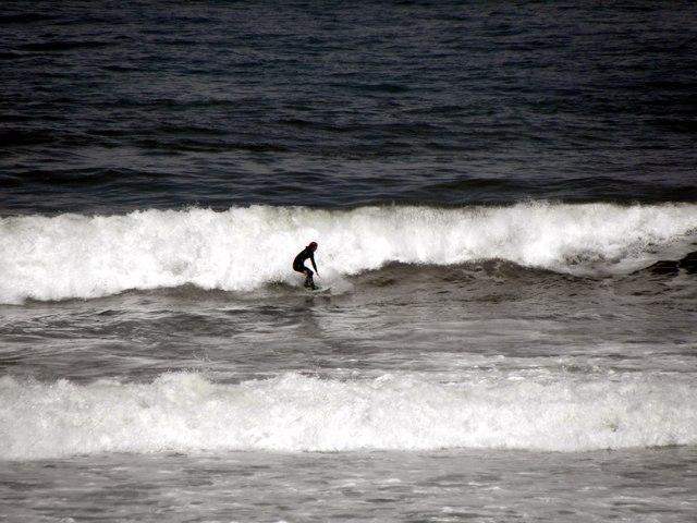 Surfer at play