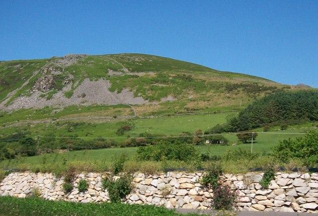 The south-western slopes of Moel-pen-llechog