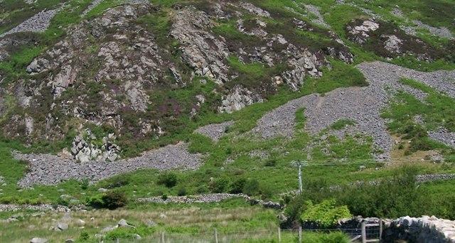 Scree slopes on Moel-pen-llechog