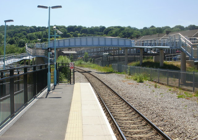 The view south from Newbridge railway station