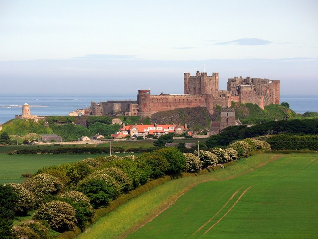Bamburgh Castle from the west