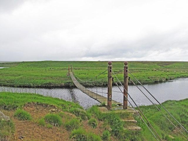 Suspension Bridge over the Thurso River