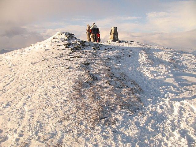 The summit, Ben Ledi