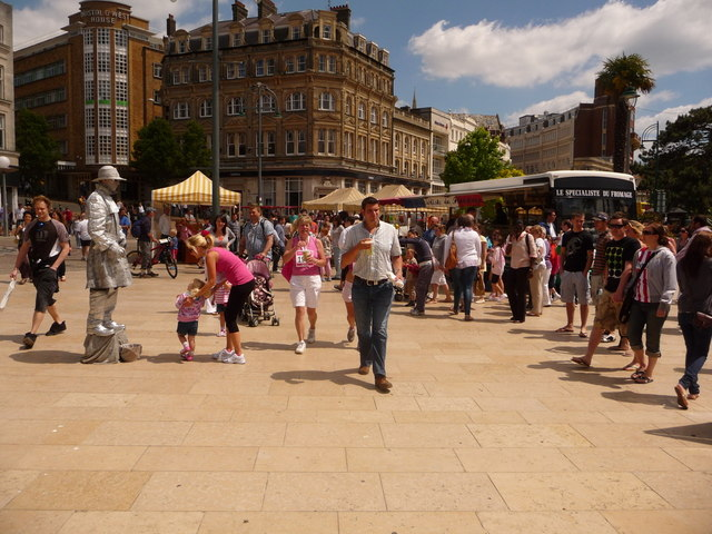 Bournemouth: the silver man in The Square