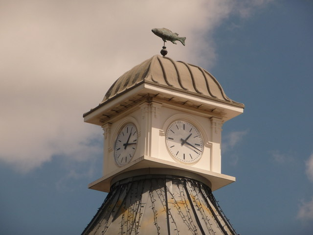 Bournemouth: Camera Obscura clock and weather vane