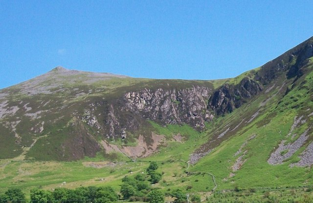 Hanging valley in the col between Gyrn Goch and Gyrn Ddu