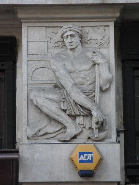 Bas relief panel on 19-21 Hatton Garden, EC1 (3)