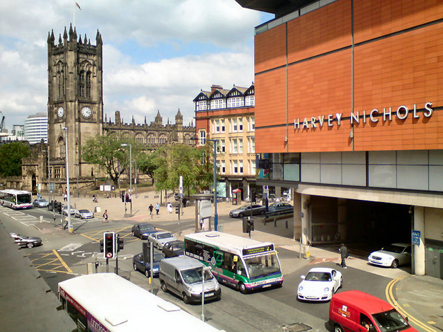 Deansgate and Manchester Cathedral