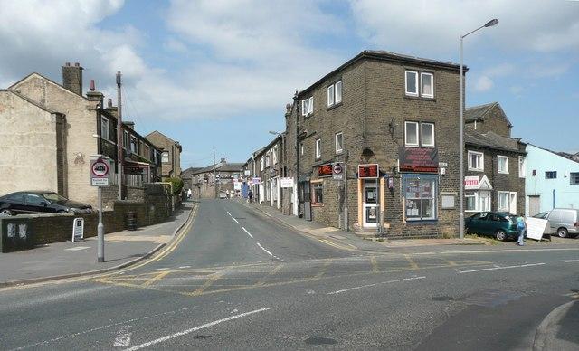Junction of Chapel Street and High Street, Queensbury