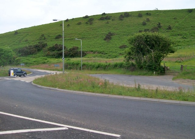 The turnoff to the B4417 below Llanaelhaearn