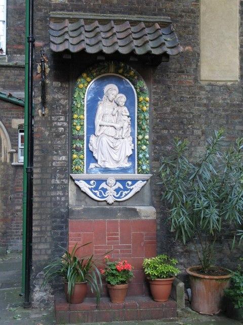 The church of Saint Alban The Martyr, Brooke Street, EC1 - effigy