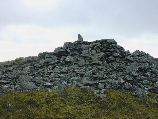 Summit cairn of Moel y Llyn