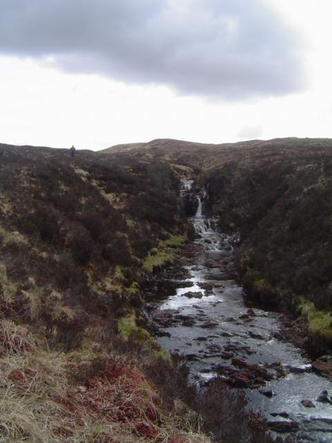 Waterfall on the Allt Gairaidh Ghualaich burn