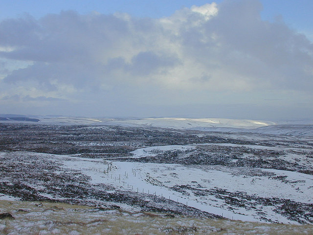 View east from Pen y Garn, in winter