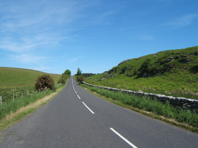 Looking north along the B6342